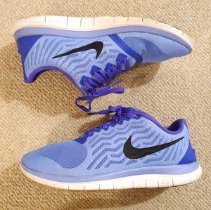 NIKE Free Run 4.0 light blue running shoes